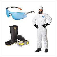 Gafas, proteccion auditiva, mascaras y ropa